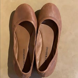 Lucky Brand Brown Leather Flats 8.5